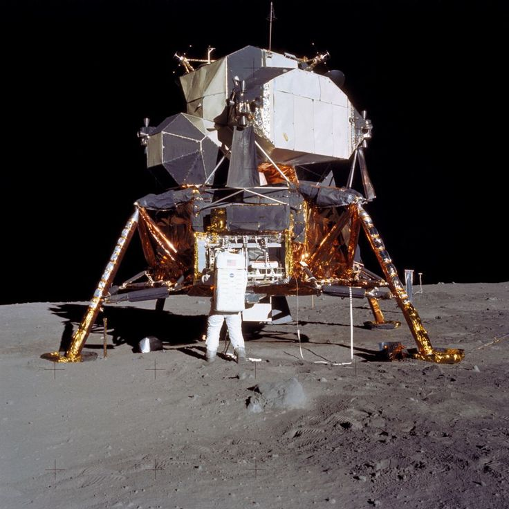 Astronaut Edwin E. Aldrin Jr., lunar module pilot, prepares to deploy the Early Apollo Scientific Experiments Package (EASEP) during the Apollo 11 lunar surface extravehicular activity (EVA). Astronaut Neil A. Armstrong, commander, took this picture with a 70mm lunar surface camera. During flight the EASEP is stowed in the Lunar Module's (LM) scientific equipment bay at the left year quadrant of the descent stage looking forward. Aldrin is removing the EASEP from its stowed position.(NASA)