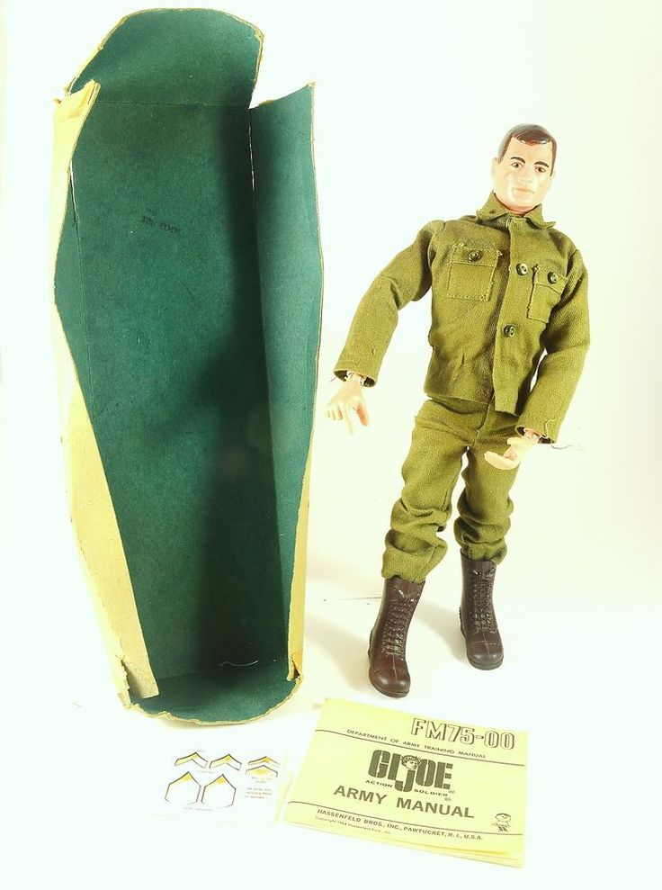 GI Joe Action Soldier #7500 1964 Brown Hair & Eyes Army Toy Military ARAH #Hasbro