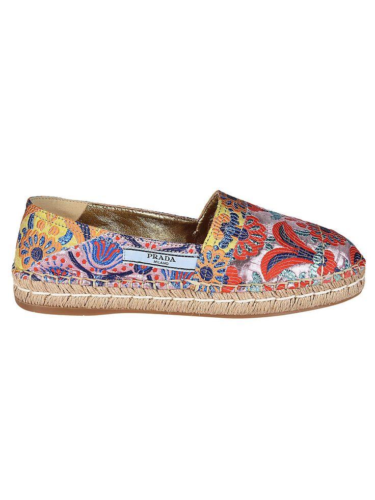 PRADA   Prada Prada Floral Espadrilles #Shoes #Flat Shoes #PRADA