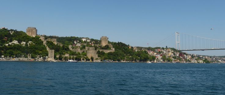 View of Rumeli Hisari (Fortress of Europe) and the bridge on the Bosphorous
