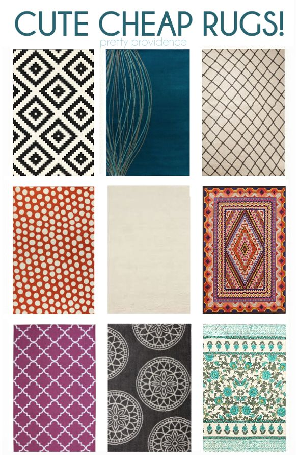 cheap, cute modern rugs, most under $100, all under $160! you'll be glad you pinned this one!