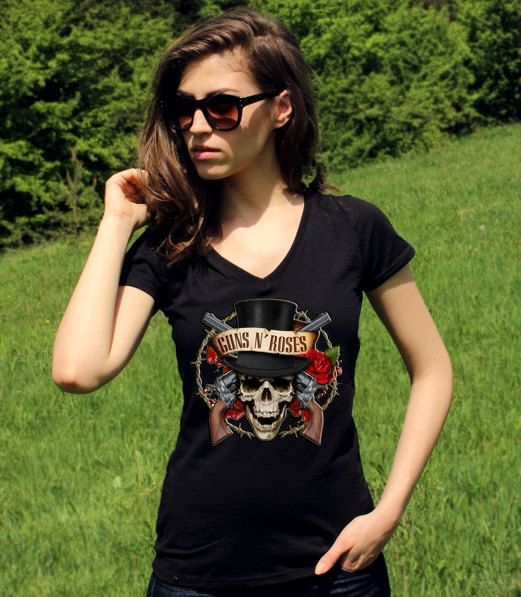 Armes à feu et Roses Shirt Guns N Roses chemises Guns par RockSins