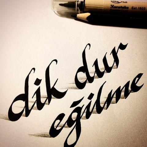 Trial 3D-Schriftart # Kalligraphie #Guzelyazi # Handschrift #Handschrift #Kalligraphie # Button
