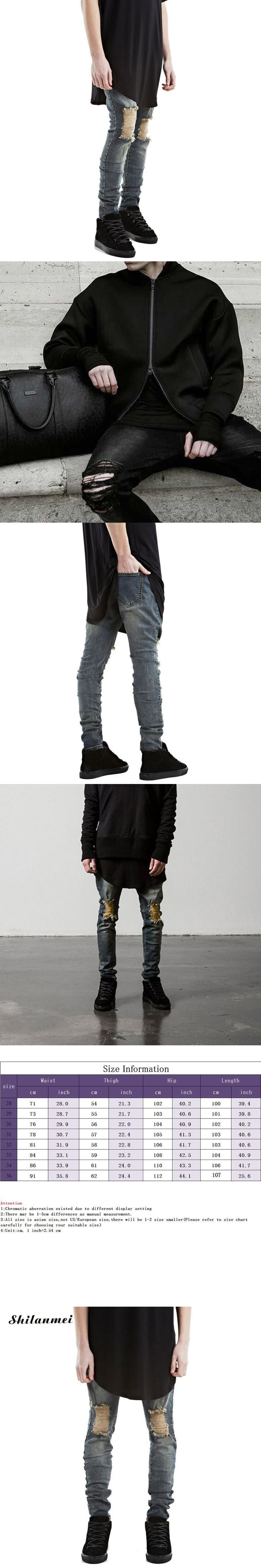 2017 hip hoop Men Jeans Stretch Destroyed Ripped Design Fashion boyfriend stylish Skinny straight fit denim Jeans slim homme #mensjeans2017 #mensjeansslim