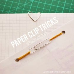 make like a little folder using just a clip and elastic band, is really useful to hand in projects. In this case I made a little notepad out of  draft paper, to make some notes...