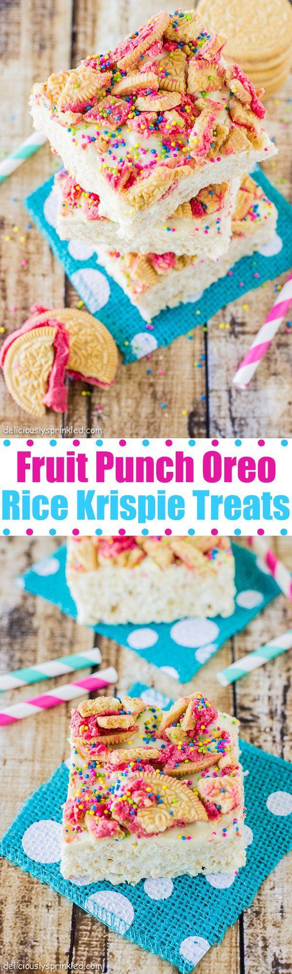 Fruit Punch Oreo Rice Krispie Treats