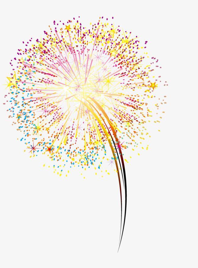yellow fireworks  fireworks  vector  brilliant fireworks