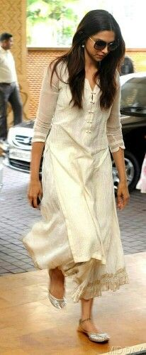 You could wear a kurta like this to work but with a churidaar not skirt