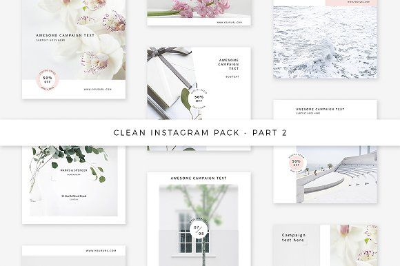 Clean Instagram Pack - Part 2 by Swiss_cube on @creativemarket