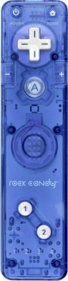PDP - Rock Candy Controller for Nintendo Wii - Blue - Front Zoom