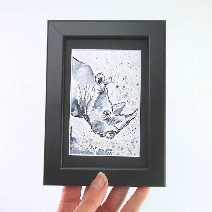 Sometimes I think Rhinos  are just overweight unicorns  . . Painted with schmincke Horadam water color on@hahnemuehle_global Britannia 300g rough paper painting and product photo  wandklex. #wandklex #malerei #handgemalt #aquarell #kunst #art #watercolor #watercolour #tier #tierportrait #rhino #nashorn #rhinos #rhinosofinstagram #etsy #etsyde #dawanda #dawandade #etsyseller #etsyfinds #etsygifts #etsyfindes