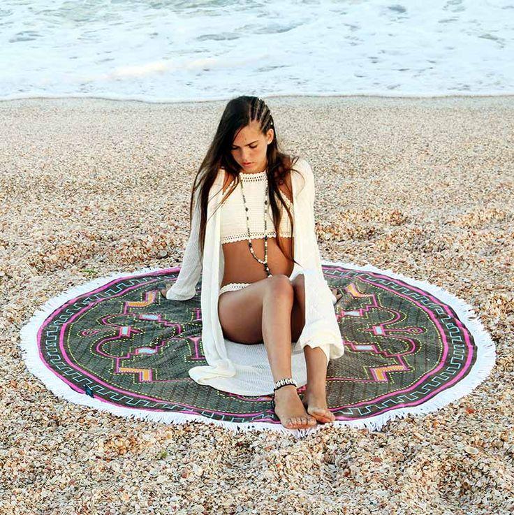Amazing Round Beach Towels by @MandalaLifeART