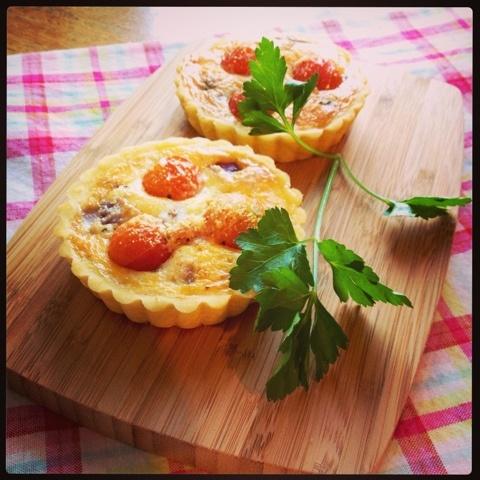 Gluten Free Tomato & Parmesan Mini Quiches
