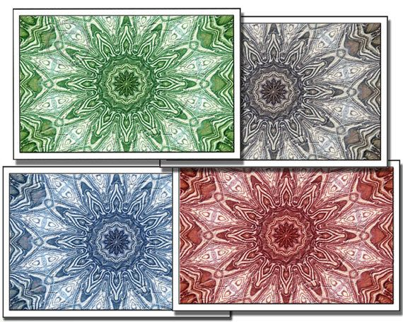 Mandalas - DIY  Greeting Cards Printable Digital download $4.73