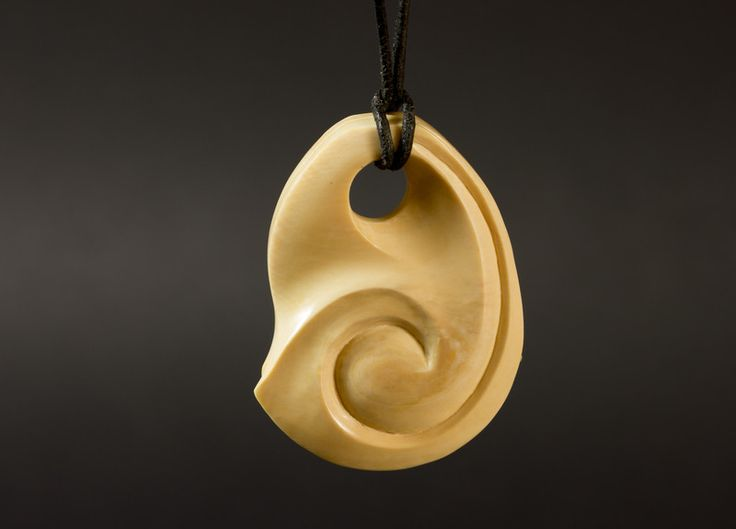 Amulets – Carved mammoth pendant – a unique product by carvingcollection on DaWanda