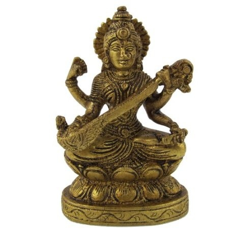 Amazon.com: Brass Metal Statue of Goddess Saraswati: Home & Kitchen