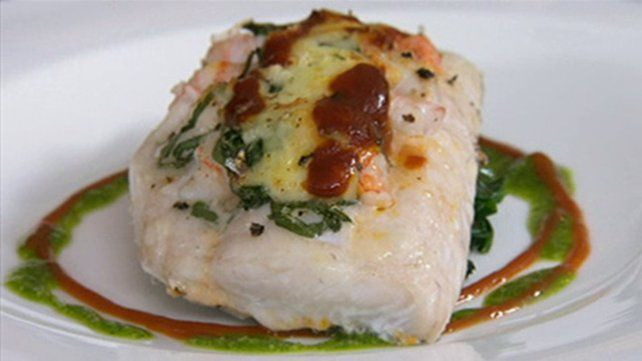 FISH HEAVEN... Gratin of Hake with Prawns has always been a firm favourite.