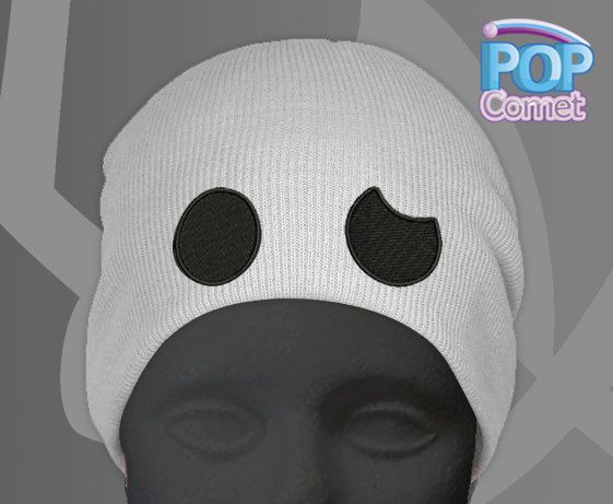 Team Skull Grunt Hat, this team skull grunt cosplay beanie comes with embroidered eyes!  Inspired by the enemy team in Pokemon Sun and Moon.  *********5 Business Days Creation Time + Shipping *************