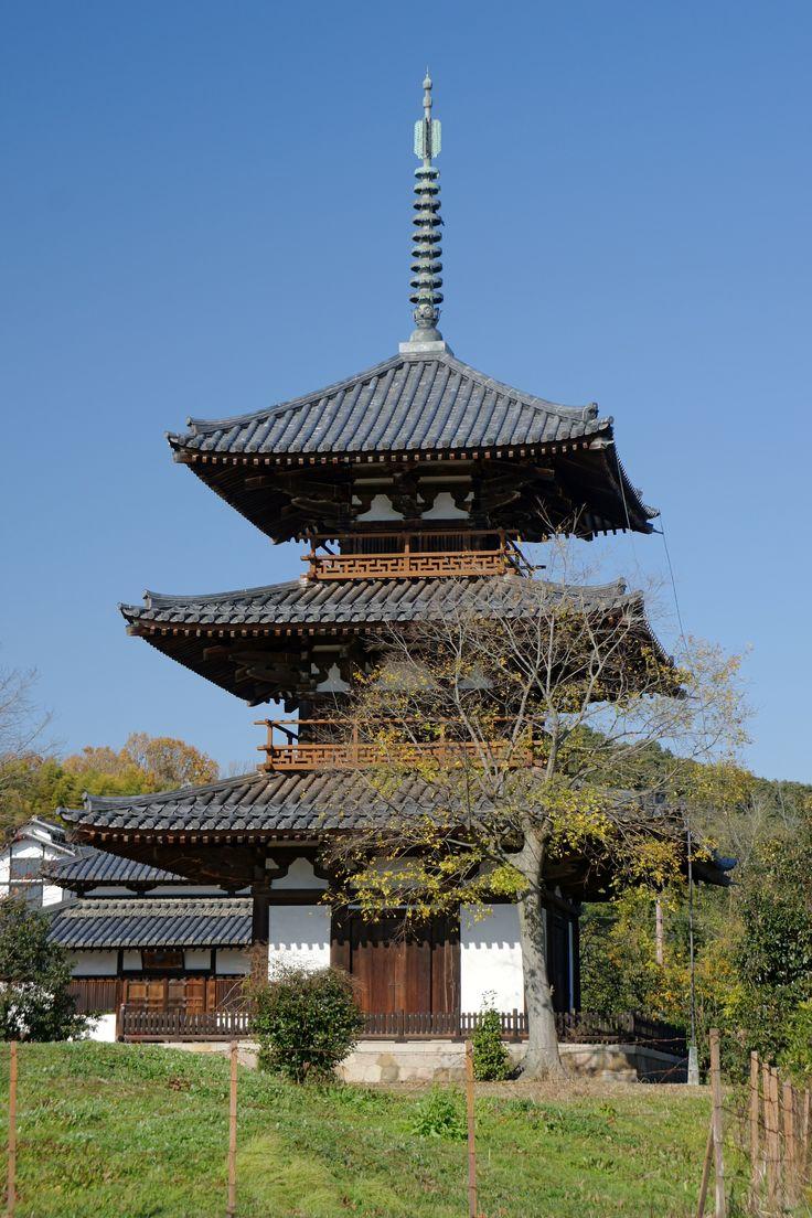 ARCHITECTURE Pagoda at Hokkiji, Ikaruga, Nara, Built in