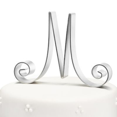 Cake Topper Idea: Wedding Cake Toppers, Scripts Initials, Initial Cake Toppers, Simple Cakes, Initials Cakes Toppers, Cute Cakes, Wedding Cakes Toppers, Modern Cakes, Monograms Cakes Toppers