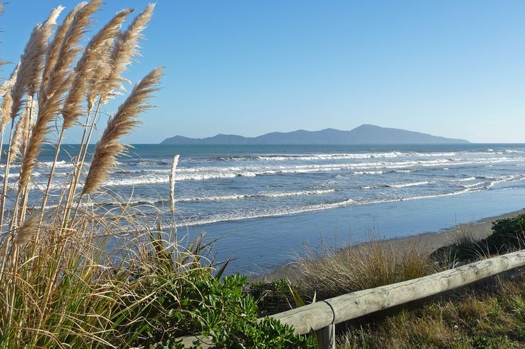 Kapiti Island from Beach Road, Paekakariki, NZ.