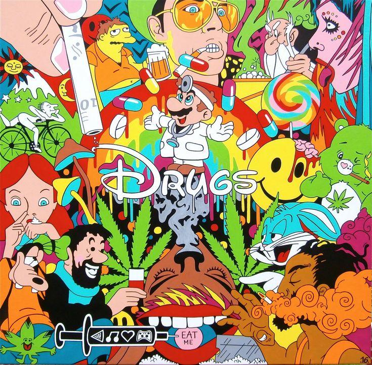 Psychedelic drug poster www.facebook.com/nodrugsnowar www.twitter.com/nodrugsnowar