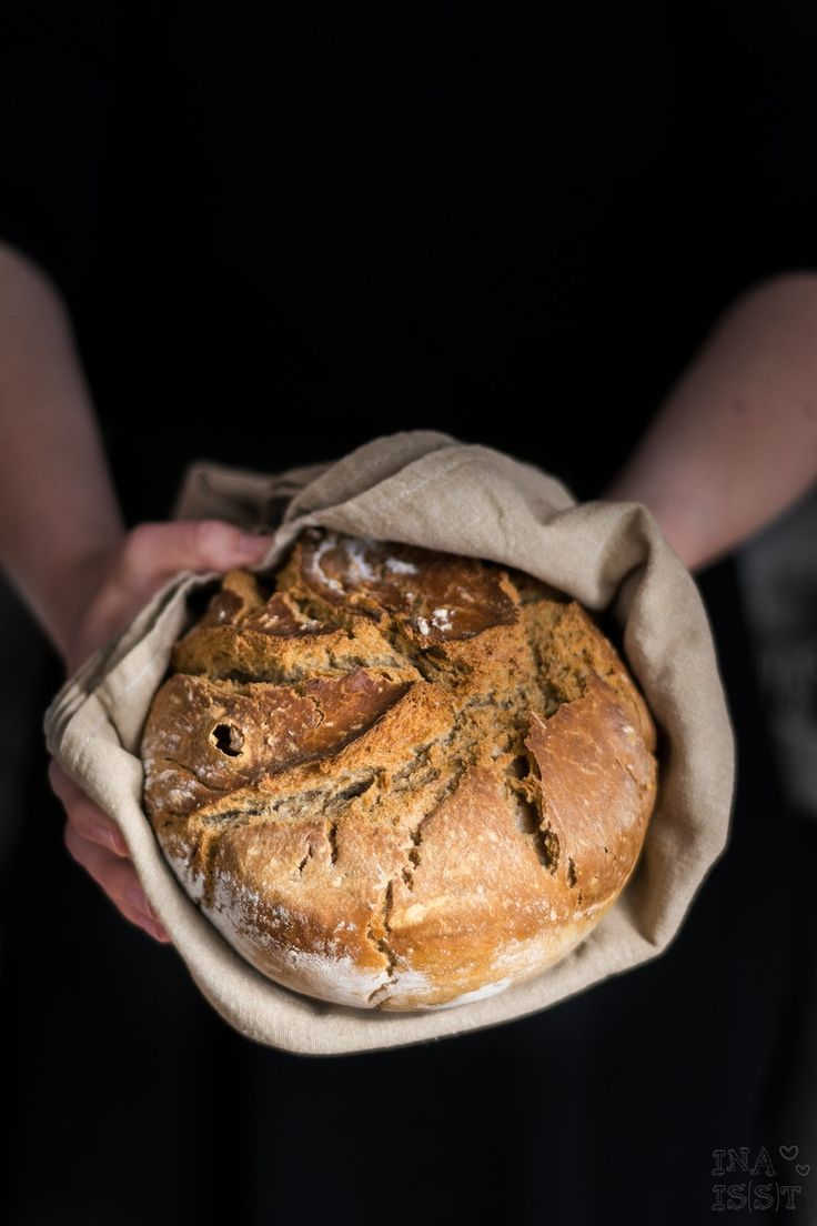 Ina Is(s)t: Einfaches Bierbrot aus dem Tontopf /// Easy peasy german beer bread from a clay casserole