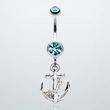 Classic Anchor Dangle Belly Ring