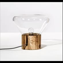 Wood/glass lamp _More on our website: www.designalpino.com