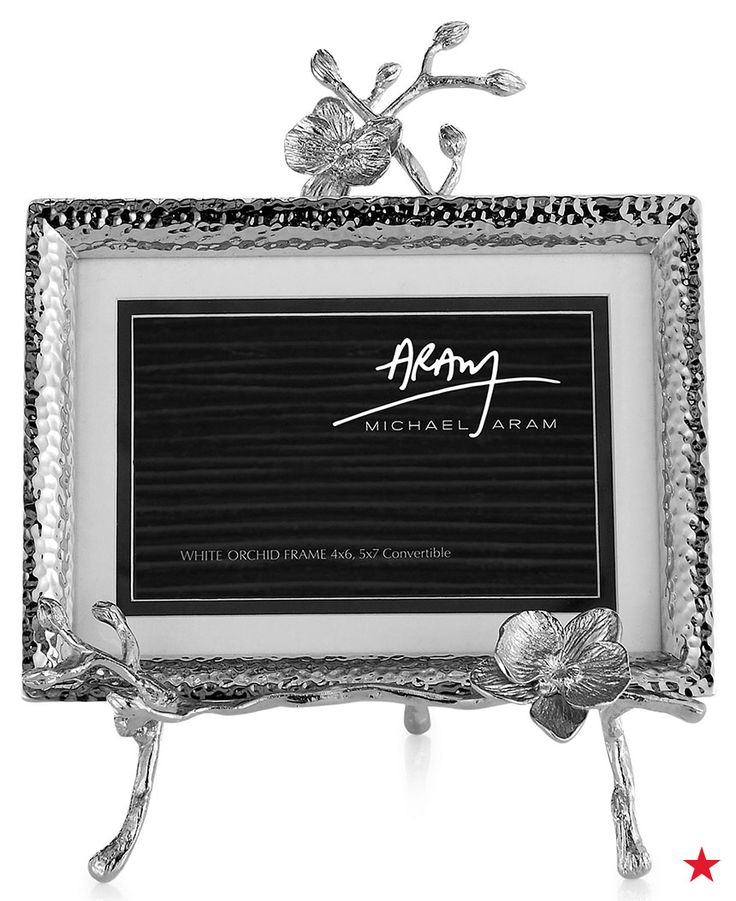 The orchid detailing in this Michael Aram picture frame would look good in any room of the house. Shop it now at macys.com