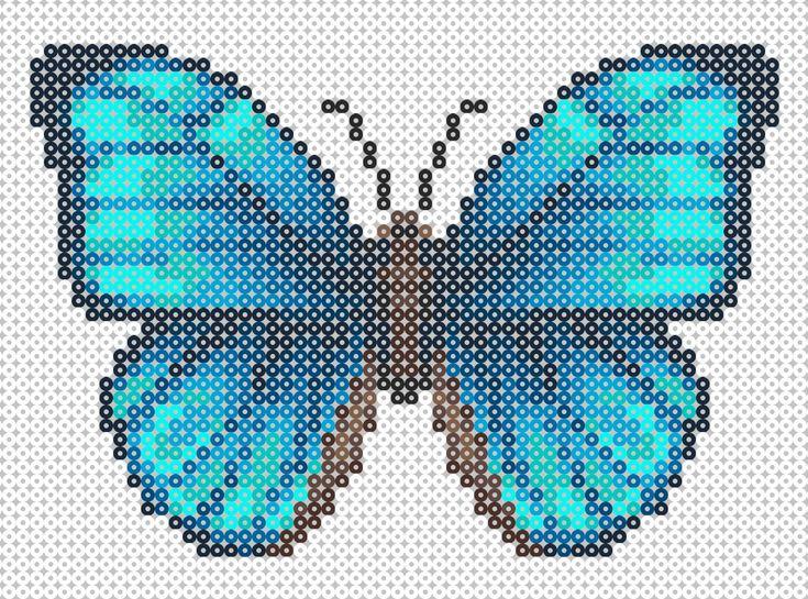 Butterfly Hama Beads pattern http://mistertrufa.net/librecreacion/culturarte/?p=12                                                                                                                                                                                 Más