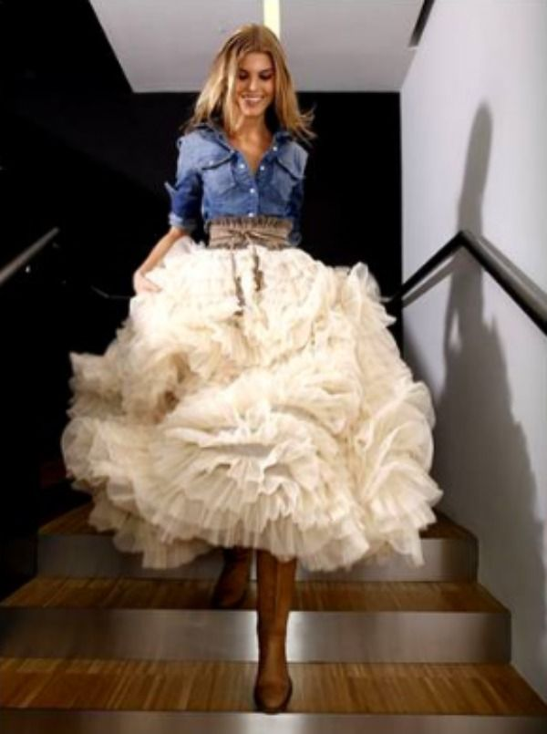 52 best country western old west wedding theme images on for Western denim wedding dresses