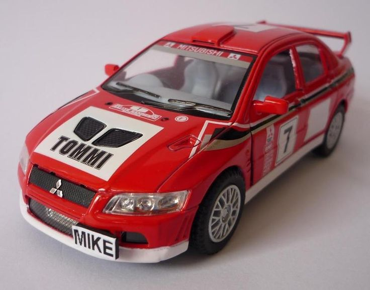 PERSONALISED PLATE Mitsubishi Lancer Evo VII WRC Boys Dad Diecast Toy Car Gift