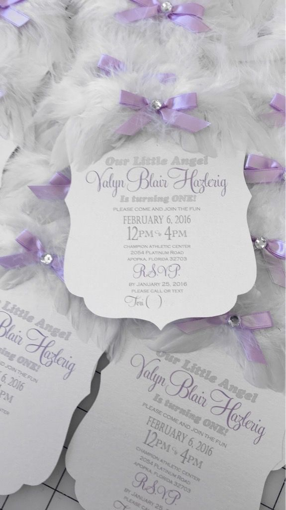 Angel Wing Invitation xo embellishments invitations