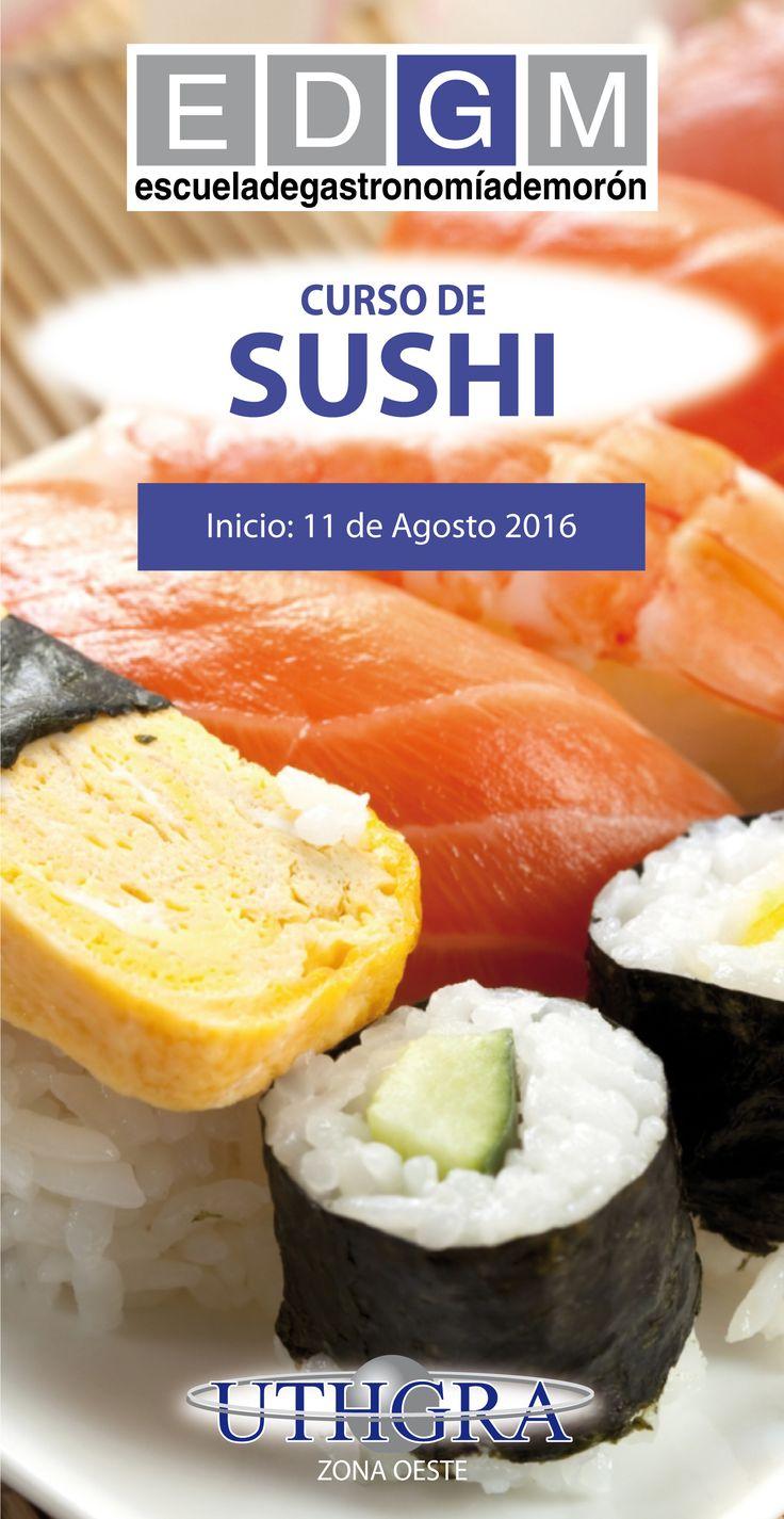 CURSO DE SUSHI www.escuelauthgramoron.com.ar #Sushi #CursosCortosdeCocina #EDGM