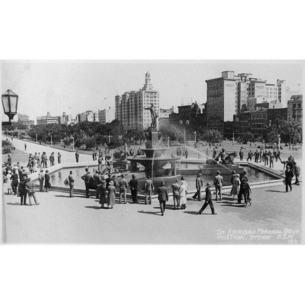One of Sydney's favourites - the Archibald Fountain - circa 1930s. #cityofsydneyarchives #sydney #history #sydneycommunity - @City of Sydney | Webstagram