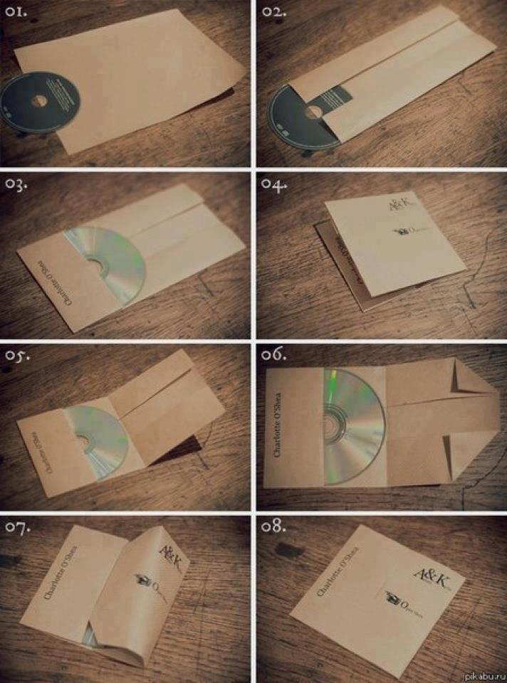 diy - envoltorios para CD DVD