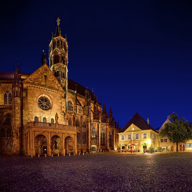 Freiburg, Germany.  Most beautiful church I've ever seen. The Cathedral of Our Lady Freiburger Münster