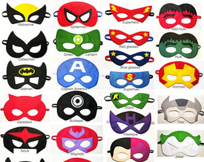 40 sentía superheroe máscaras fiesta pack - elegir estilos - Dress Up juego - regalo de cumpleaños para niños adolescentes adultos - el accesorio del traje venta por mayor