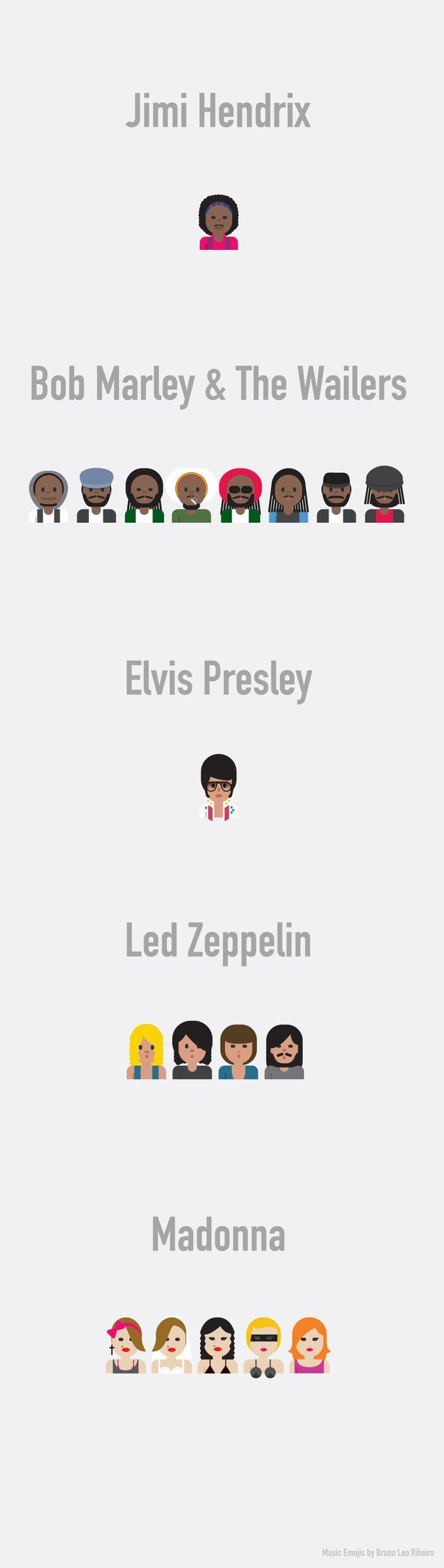 Microsoft emoji list emojistwitter emoji list emojis - Artist Pays Homage To The Rock N Roll Gods By Turning Them Into Emoji