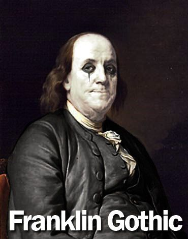 : Books Covers, Franklin Gothic, Nerd Humor, Nerd Jokes, Typography Fonts, Covers Books, Funny Pictures, Graphics Design, Benjamin Franklin