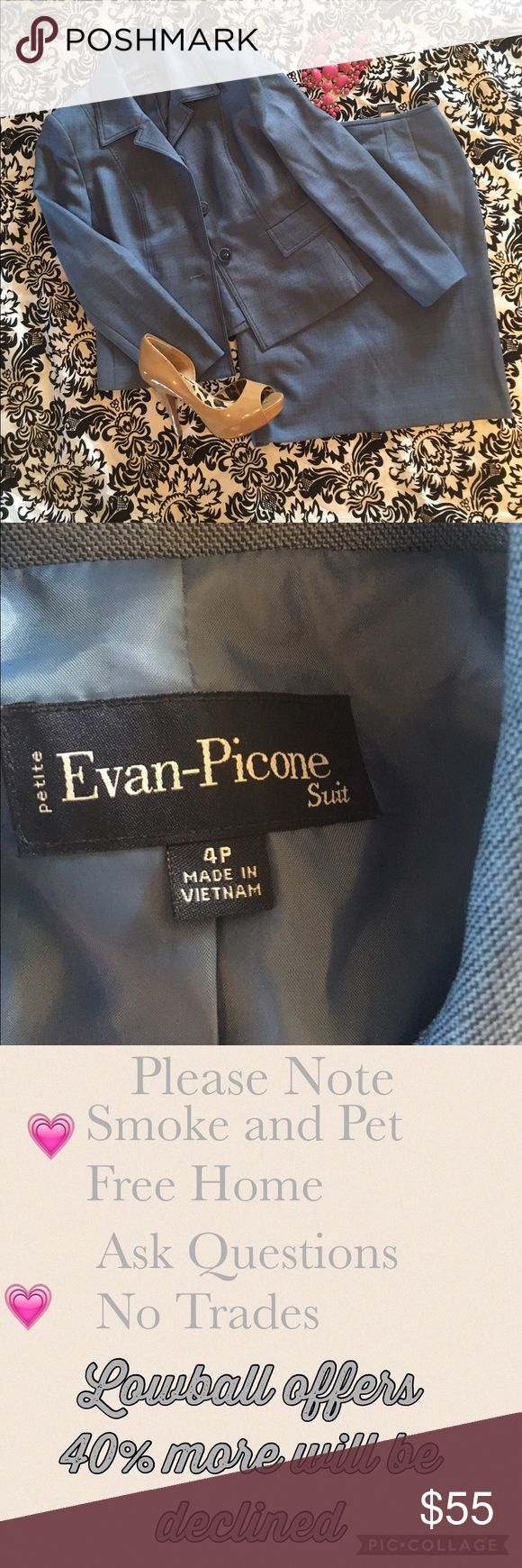 Skirt suit Evan Picone petite suit has been taken up in waist to fit a size two in waist only. Evan Picone Skirts Skirt Sets