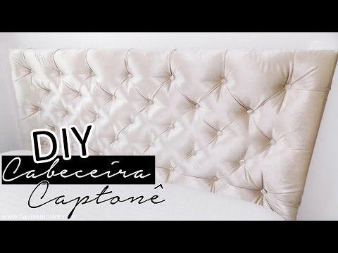 DIY - Como fazer CABECEIRA p/ cama fácil, barata e rápida  Faça vc mesma  It Lady por Xênia Virginie - YouTube