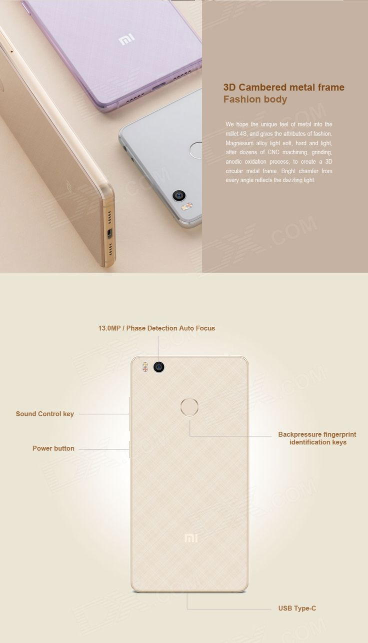 "Xiaomi 4S Snapdragon 808 Hexa-Core 4G 5.0"" Phone w/ 3GB RAM, 64GB ROM - Free Shipping - DealExtreme"