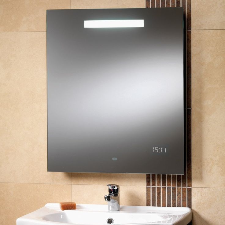 Led Bathroom Mirrors With Shaver Socket And Clock