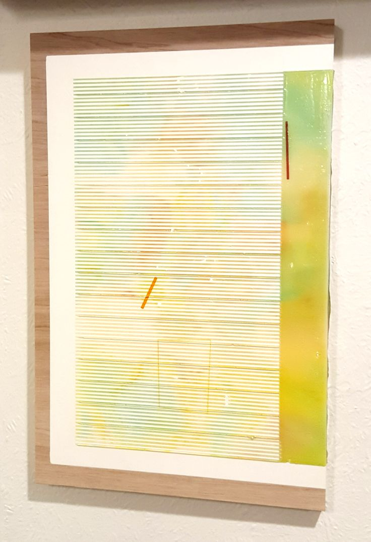 Nathan Suniula, 'Outside marks and signs', acrylic on ply wood panel, 2016