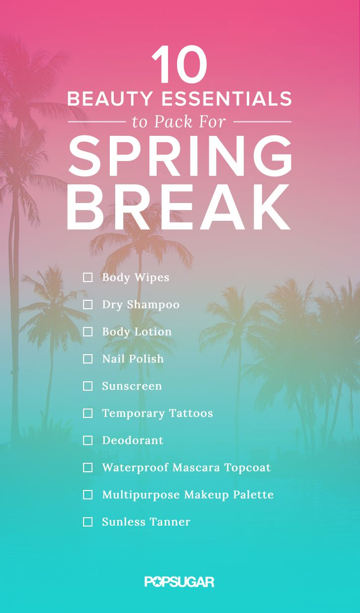 Packing for Spring Break? These are the beauty items you need to look gorgeous poolside. Don't forget your sunscreen!
