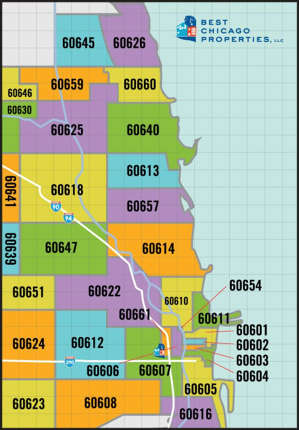 Chicago Real Estate Zip Code Map Search in 2019 | Moving To Chicago ...