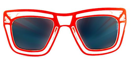 Loud & Clear Wayfarer Sunglasses - 297 Red $12