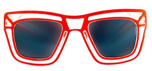 Loud & Clear Wayfarer Sunglasses - 297 Red $12
